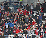 Aberdeen fans - Dundee v Aberdeen in the Clydesdale Bank Scottish Premier League at Dens Park.. - © David Young - www.davidyoungphoto.co.uk - email: davidyoungphoto@gmail.com