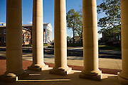 OXFORD, MS - APRIL 12:   The Lyceum, oldest building on campus, viewed through the Arrival Pavilion at the University of Mississippi on April 12, 2008 in Oxford, Mississippi.  (Photo by Wesley Hitt/Getty Images) *** Local Caption ***