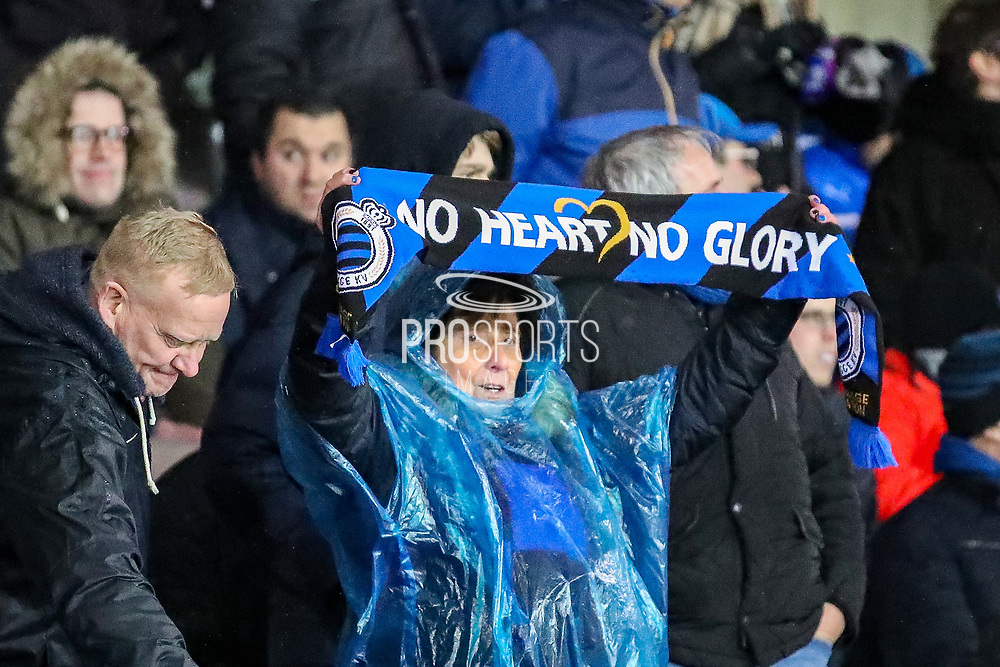 Club Brugge fan during the Europa League match between Club Brugge and Manchester United at Jan Breydel Stadion, Brugge, Belguim on 20 February 2020.
