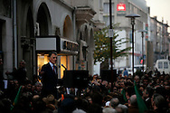 Cavaco Silva speeches to the people in Braga, the third biggest portuguese town.