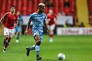 Forest Green Rovers Junior Mondal(25) runs forward during the EFL Cup match between Charlton Athletic and Forest Green Rovers at The Valley, London, England on 13 August 2019.