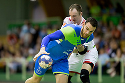 Borut Mackovsek of Slovenia during friendly handball match between National teams of Slovenia and Belarus, on April 8, 2018 in Sports hall Tri Lilije, Lasko, Slovenia. Photo by Urban Urbanc / Sportida