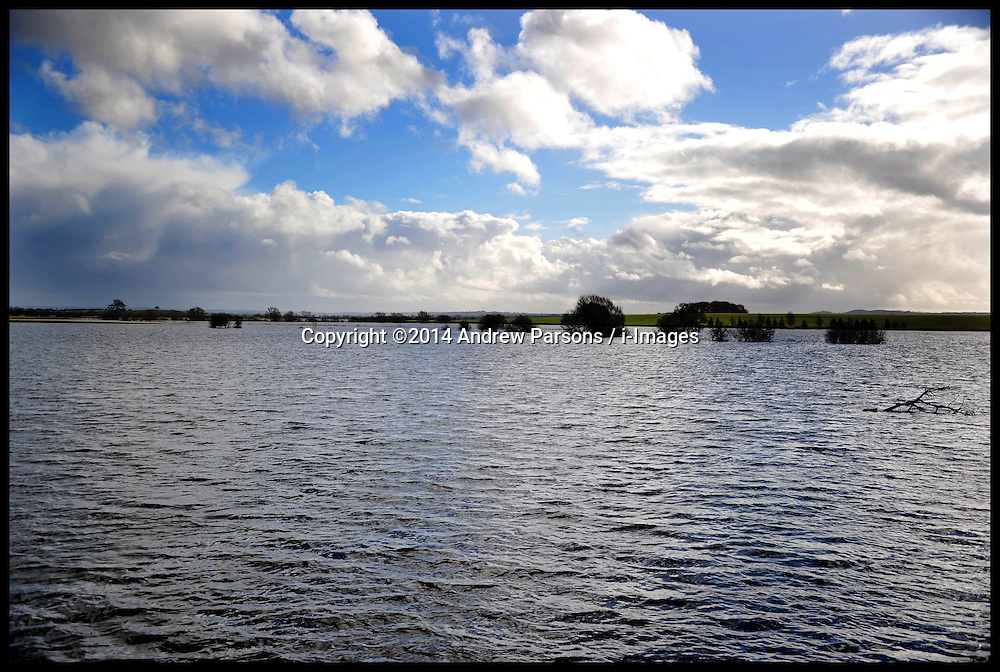 Somerset Levels Flooded due to heavy rain in January. London, United Kingdom. Tuesday, 4th February 2014. Picture by Andrew Parsons / i-Images