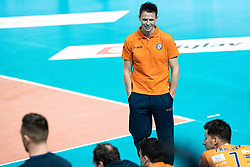 Plesko Mitja head coach of ACH Volley during volleyball match between ACH Volley Ljubljana (SLO) and Kuzbas Kemerevo (RUS) n 2nd Round, group B of 2019 CEV Volleyball Champions League, on December 11, 2019 in Hala Tivoli, Ljubljana, Slovenia. Grega Valancic / Sportida