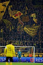 DORTMUND, GERMANY - Thursday, April 7, 2016: Liverpool's goalkeeper Simon Mignolet in action against Borussia Dortmund during the UEFA Europa League Quarter-Final 1st Leg match at Westfalenstadion. (Pic by David Rawcliffe/Propaganda)