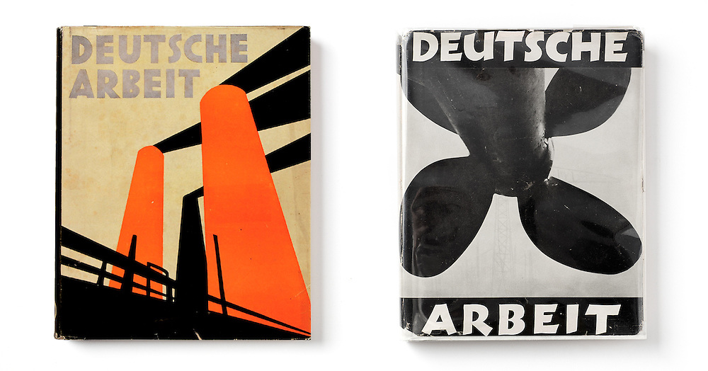 Deutsche Arbeit (German Work). Verlag Ullstein, Berlin. 1930 Reversible dust jacket.<br />