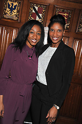 Left to right, singer BEVERLEY KNIGHT and athlete DENISE LEWIS at a reception for the Stephen Lawrence Charitable Trust hosted by the Speaker of The House of Commons John Bercow and supported by law firm Freshfields Bruckhaus Deringer in The State Rooms, Speaker's House, the House of Commons, London on 19th December 2012.