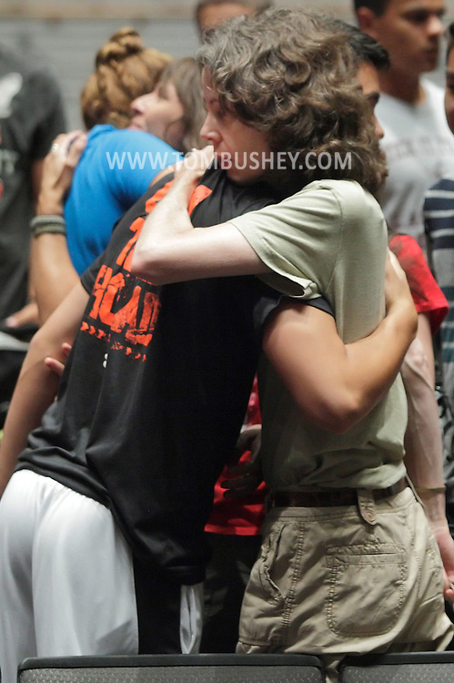 Families were given 90 seconds to say goodbye to their new cadets after a presentation at Eisenhower Hall during R-Day at the U.S. Military Academy at West Point on Monday, July 2, 2012.