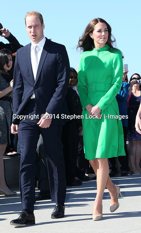 The Duke and  Duchess of Cambridge  arriving at the National Arboretum in Canberra, Australia, Wednesday, 23rd April 2014. Picture by Stephen Lock / i-Images