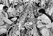Traditional feast at tribal gathering in Tonga, South Pacific