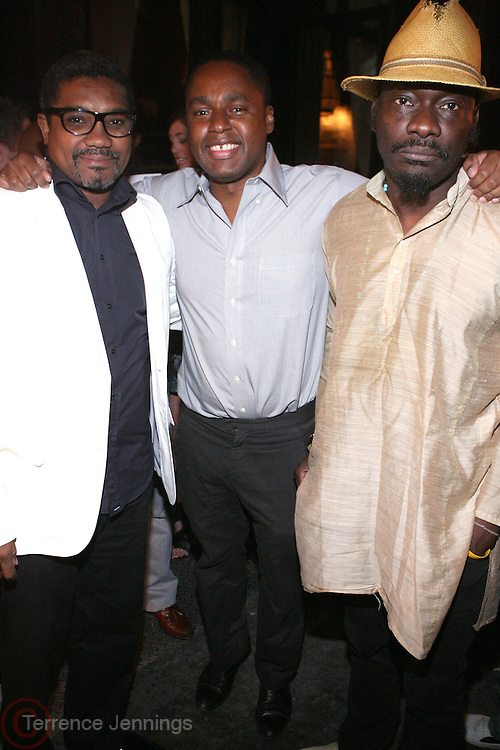 l to r: Marc Baptiste, Claude Grunitzky and Andrew Dosunmu at the Trace Magazine annual launch for ' Black Girls Rule ' issue held at Merkato 55 on August 19, 2008