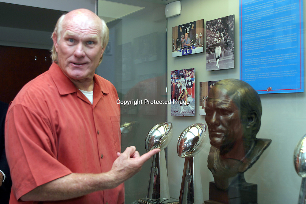 Dedication &amp; Open House of Memorabilia display of Terry Bradshaw Super Bowl Trophies and rings and NFL Hall of Fame bust.<br /> Photo by TOM MORRIS<br /> www.tommorrisphotos.com<br /> copyright2006