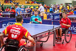 (Team FRA) MERRIEN Florian and GIL-MARTINS Stephane in action during 15th Slovenia Open - Thermana Lasko 2018 Table Tennis for the Disabled, on May 11, 2018 in Dvorana Tri Lilije, Lasko, Slovenia. Photo by Ziga Zupan / Sportida