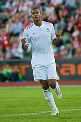 OSLO, NORWAY - Wednesday, August 5, 2009: Liverpool's David Ngog celebrates scoring the secon goal against FC Lyn Oslo during a preseason match at the Bislett Stadion. (Pic by David Rawcliffe/Propaganda)
