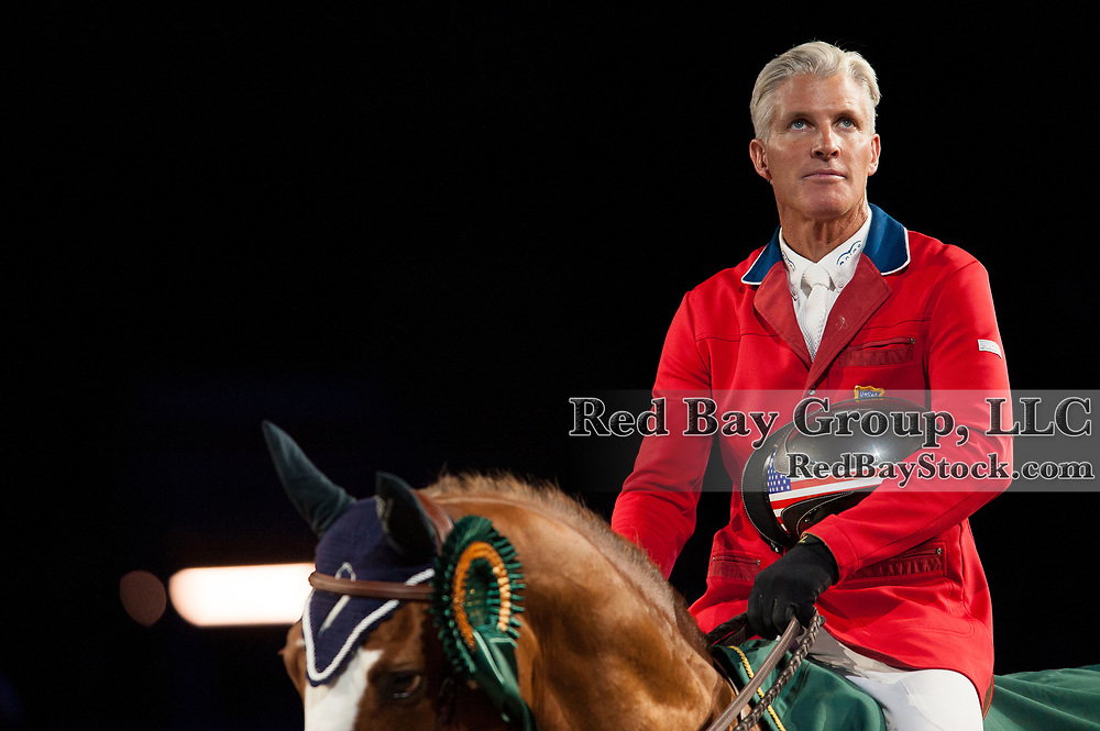 Rich Fellers (USA) & Flexible - Rolex FEI World Cup Jumping Final 1 - Indoor Brabant 2012 - Brabanthal, 's-Hertogenbosch, Netherlands - 19 April 2012