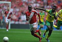 Middlesbrough Albert Adomah holds of Norwich Alexander Tettey, Middlesbrough v Norwich, Sky Bet Championship, Play Off Final, Wembley Stadium, Monday  25th May 2015