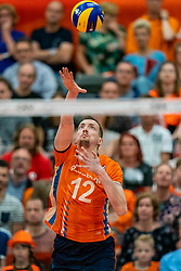 09-06-2019 NED: Golden League Netherlands - Spain, Koog aan de Zaan<br /> Fourth match poule B - The Dutch beat Spain again in five sets in the European Golden League / Tim Smit #12 of Netherlands