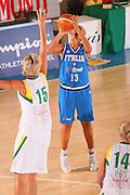 DESCRIZIONE : Bormio Torneo Internazionale Femminile Olga De Marzi Gola Italia Lituania <br /> GIOCATORE : Manuela Zanon <br /> SQUADRA : Nazionale Italia Donne Italy <br /> EVENTO : Torneo Internazionale Femminile Olga De Marzi Gola <br /> GARA : Italia Lituania Italy Lithuania <br /> DATA : 25/07/2008 <br /> CATEGORIA : Tiro <br /> SPORT : Pallacanestro <br /> AUTORE : Agenzia Ciamillo-Castoria/S.Silvestri <br /> Galleria : Fip Nazionali 2008 <br /> Fotonotizia : Bormio Torneo Internazionale Femminile Olga De Marzi Gola Italia Lituania <br /> Predefinita :