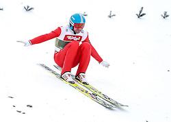 03.01.2015, Bergisel Schanze, Innsbruck, AUT, FIS Ski Sprung Weltcup, 63. Vierschanzentournee, Training, im Bild Dimitry Vassiliev (RUS) // Dimitry Vassiliev of Russia in action during Trial Jump of 63 rd Four Hills Tournament of FIS Ski Jumping World Cup at the Bergisel Schanze, Innsbruck, Austria on 2015/01/03. EXPA Pictures © 2015, PhotoCredit: EXPA/ Peter Rinderer