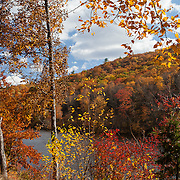 Delaware Water Gap Recreation Area in Pennsylvania near Portland, Pennsylvania during the fall.