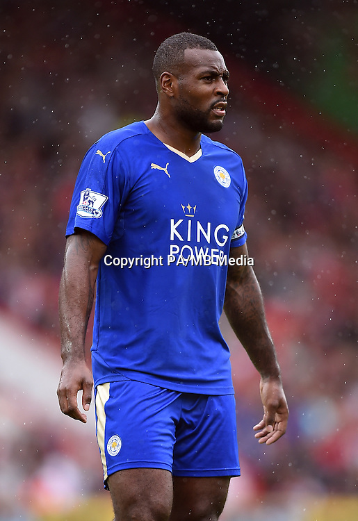 Leicester City's Wes Morgan during the Barclays Premier League match at the Vitality Stadium, Bournemouth.