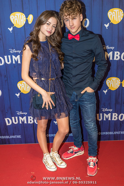 NLD/Amsterdams/20190326 - Filmpremiere Dumbo, ....... en Jannes Heuvelmans