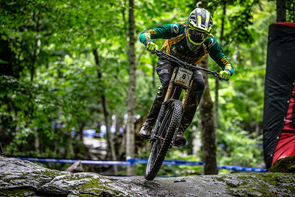 MINNAAR Greg (RSA) at the Mountain Bike World Championships in Mont-Sainte-Anne, Canada.