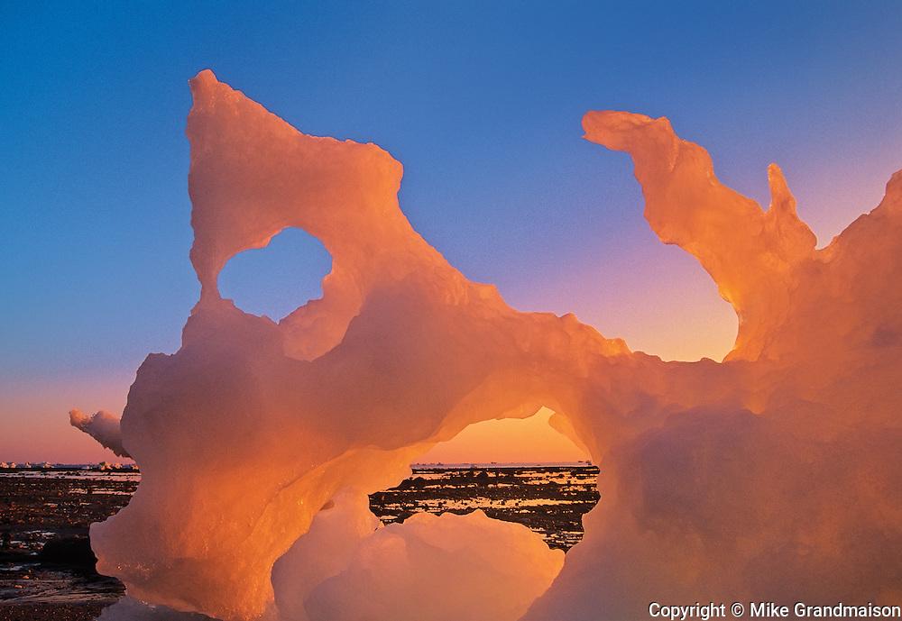 Ice on the Hudson Bay Coastline<br /> Churchill<br /> Manitoba<br /> Canada