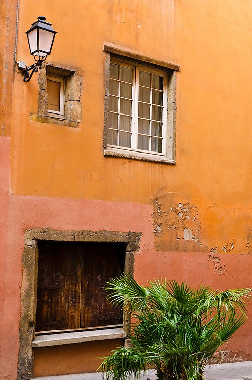 Side street in old town Vieux Lyon, France (UNESCO World Heritage Site)