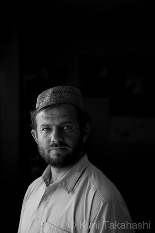 Shafiq Ahmad, 30, of Kandahar, University teacher (chemistry).in Kandahar, Afghanistan on Aug 17, 2011.(Photo by Kuni Takahashi)
