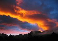 Sunrise over Rocky Mountain National Park, June 2004.
