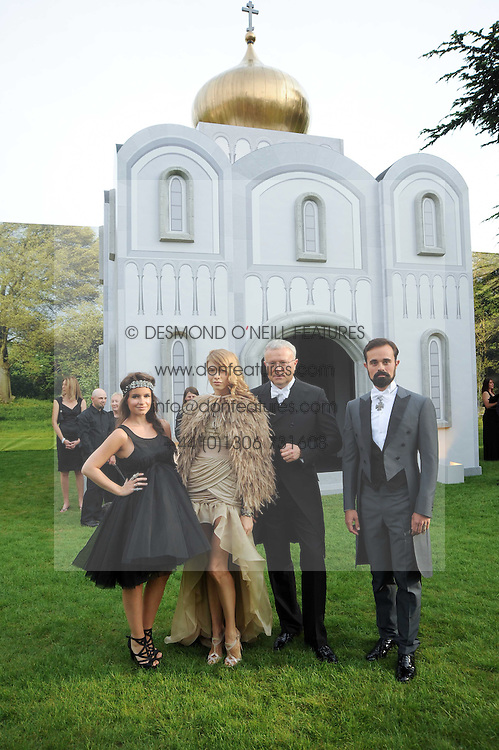 Left to right, MIROSLAVA DUMA and ELENA PERMINOVA, ALEXANDER LEBEDEV and EVGENY LEBEDEV at the Raisa Gorbachev Foundation Party held at Stud House, Hampton Court Palace on 5th June 2010.  The night is in aid of the Raisa Gorbachev Foundation, an international fund fighting child cancer.