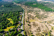 Nederland, Utrecht, Leusden, 29-05-2019;  Leusderheide, militair oefenterrein. <br /> Leusder heath, military training ground.<br /> <br /> luchtfoto (toeslag op standard tarieven);<br /> aerial photo (additional fee required);<br /> copyright foto/photo Siebe Swart