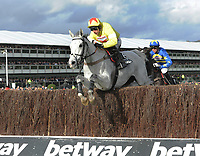 National Hunt Horse Racing - 2020 Cheltenham Festival - Wednesday, Day Two (Ladies Day)<br /> <br /> Winner, Harry Skelton on Politologue in the 15.30 Betway Queen Mother Champion Steeple chase (Grade 1), at Cheltenham Racecourse.