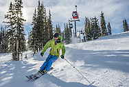 Skiing on Aspen Mountain in Aspen, Colorado.
