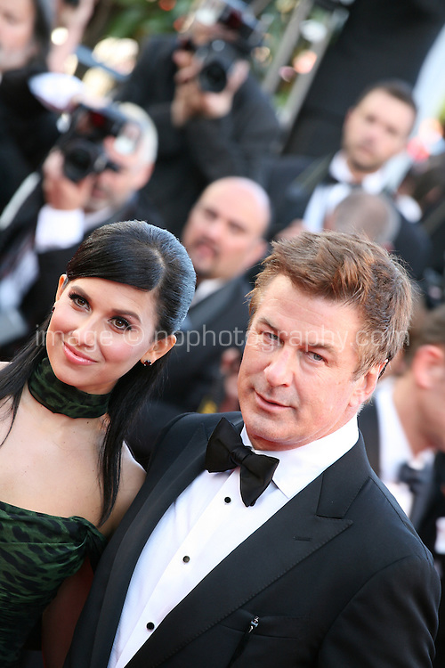 Actor Alec Baldwin and Hilaria Thomas at the Killing Them Softly gala screening at the 65th Cannes Film Festival France. Tuesday 22nd May 2012 in Cannes Film Festival, France.