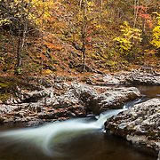 Tremont Creek Cascade Pools - Great Smoky Mountains - Autumn