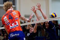 Kay van Dijk of ACH during volleyball match between ACH Volley Bled and UKO Kropa at final of Slovenian National Championships 2011, on April 27, 2011 in Arena SGTS Radovljica, Slovenia. ACH Volley defeated Kropa 3-0 and became Slovenian National Champion 2011. (Photo By Vid Ponikvar / Sportida.com)