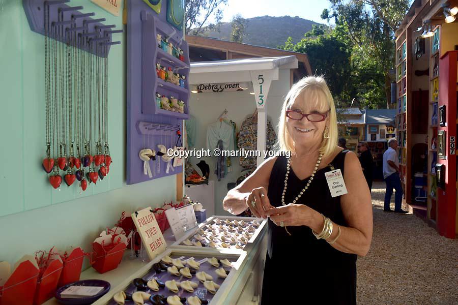 Ora Sterling , ceramicist at the Sawdust Festival, Laguna Beach, Ca. June 26, 2016