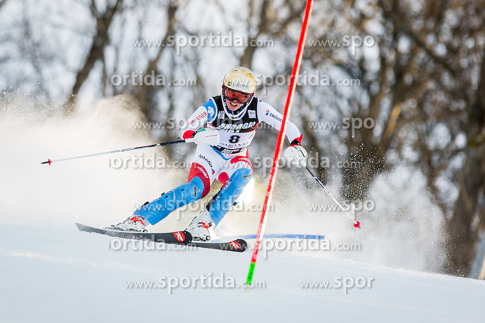 "Michelle Gisin (SUI) during FIS Alpine Ski World Cup 2016/17 Ladies Slalom race named ""Snow Queen Trophy 2017"", on January 3, 2017 in Course Crveni Spust at Sljeme hill, Zagreb, Croatia. Photo by Žiga Zupan / Sportida"