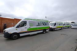 ALEXANDRA SOUTH AFRICA - APRIL 27: NHLS Mobile Labs during intensified testing and screening on Freedom Day, screening and testing includes people over over 60, flu-like symptoms, comorbid conditions, like diabetes, asthma, hypertencsion, HIV and tuberculosis on April 25, 2020 in Alexandra South Africa. Under pressure from a global pandemic. President Ramaphosa declared a 21 day national lockdown extended by another two weeks, mobilising goverment structures accross the nation to combat the rapidly spreading COVID-19 virus - the lockdown requires businesses to close and the public to stay at home during this period, unless part of approved essential services. (Photo by Dino Lloyd)