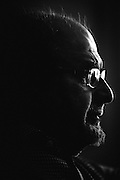 """The British Indian novelist Salman Rushdie photographed in New York. Born in Bombay in 1947, the writer has lived in the US since 2000. His latest book, Joseph Anton: A Memoir, is an autobiographical published by Random House in 2012. Joseph Anton was the pseudonym he used while in hiding after Ayatollah Khomeini issued a fatwa following Rushdie's novel """"The Satanic Verses""""."""