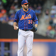 Pitcher Matt Harvey, New York Mets, pitching during the New York Mets Vs Washington Nationals MLB regular season baseball game at Citi Field, Queens, New York. USA. 31st July 2015. Photo Tim Clayton
