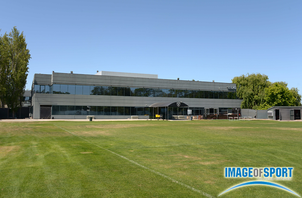 Jun 3, 2013; Alameda, CA, USA; General view of the Oakland Raiders practice facility exterior.