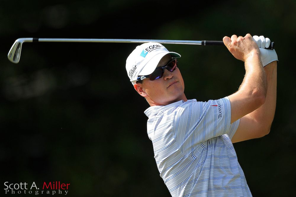 Zach Johnson (USA) tees off on the 11th hole during the first round of the PGA Tour Championship at East Lake Golf Club on Sept. 24, 2009 in Decatur, Ga.     ..©2009 Scott A. Miller