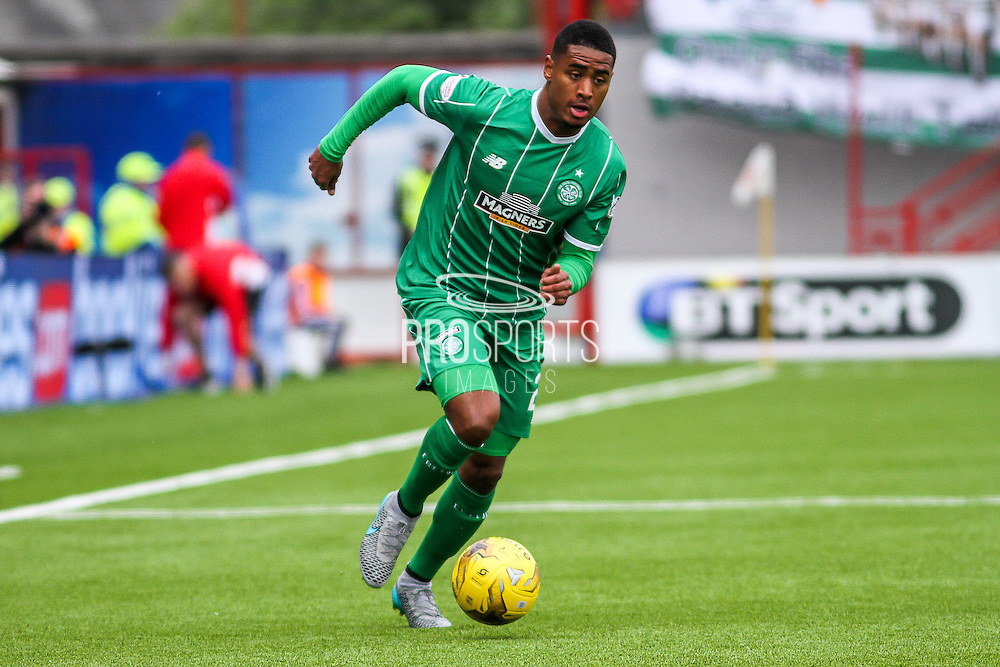 Celtic FC Defender Saidy Janko on that attack during the Ladbrokes Scottish Premiership match between Hamilton Academical FC and Celtic at New Douglas Park, Hamilton, Scotland on 4 October 2015. Photo by Craig McAllister.