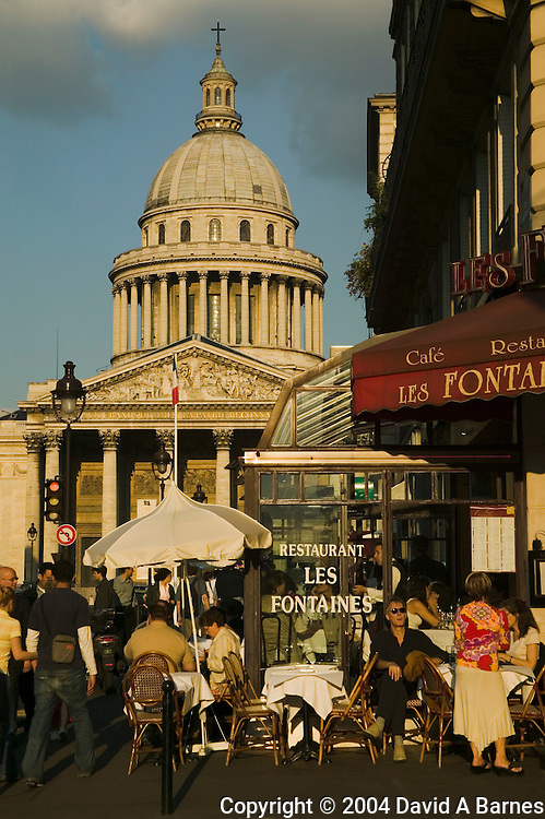 Cafe, Pantheon, Latin Quarter, Paris, France