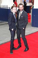 James Purefoy; Joseph Purefoy, Charlie and the Chocolate Factory opening night, Theatre Royal Drury Lane, London UK, 25 June 2013, (Photo by Richard Goldschmidt)