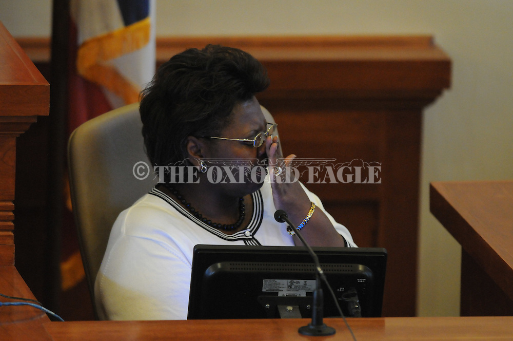 Vonda Carrothers Agulanna, mother of Caleb Corrothers, testifies at Caleb Corrothers trial at the Lafayette County Courthouse in Oxford, Miss. on Friday, May 20, 2011. Corrothers was found guilty of capital murder in the deaths of Frank Clark and Taylor Clark, and also guilty of aggravated assault of Tonya Clark, by a jury chosen from Lee County, Miss. on Thursday, May 19, 2011. He was sentenced to death..
