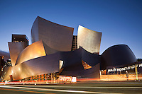 Walt Disney Concert Hall at Night, Los Angeles, California<br />